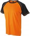 Heren t shirt oranje zwart