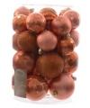 Kerst kerstballen mix zacht oranje 30 stuks