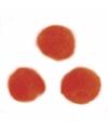 Knutsel pompons 70 stuks 7 mm oranje