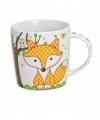 Koffie thee mok beker 9 cm oranje vos