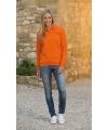 Koningsdag oranje dames sweater met polo kraag