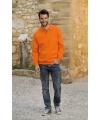 Koningsdag oranje heren sweater met polo kraag
