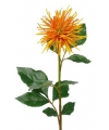 Kunstbloem chrysant oranje geel 71 cm