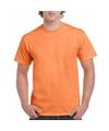 Licht oranje katoenen shirt voor volwassenen
