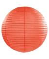 Luxe bol lampion oranje 50 cm
