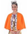 Luxe oranje koningin cape