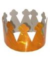 Metallic oranje kroontjes van karton