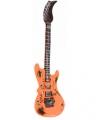 Opblaasbare oranje elektrische gitaar