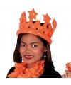 Opblaasbare oranje kroon