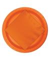 Oranje borden 8 stuks