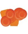 Oranje bordjes 23 cm