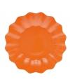 Oranje diepe borden 27 cm