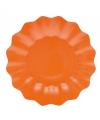 Oranje diepe bordjes 21 cm