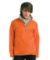 Oranje gevoerde windjas