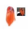 Oranje haarextensie