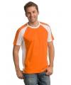 Oranje heren shirt met witte details
