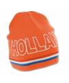 Oranje holland muts gebreid