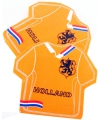 Oranje holland servetten in shirt vorm