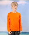 Oranje kinder t shirt lange mouwen