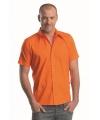 Oranje lemon soda overhemd voor heren