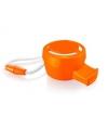 Oranje mini toeter met koord