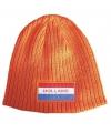 Oranje muts met holland vlag badge