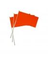 Oranje plastic zwaaivlaggetje