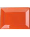 Oranje rechthoekige borden 3 stuks