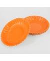 Oranje schaaltjes 10 stuks