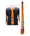 Oranje stropdas met leeuw