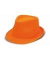 Oranje trilby hoedje