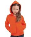 Oranje vest met capuchon voor kids