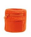 Oranje zweetband met ritsje
