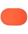 Ovale placemat oranje 43 x 28 cm