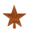 Piek ster oranje met glitters 19 cm