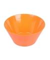 Plastic schaal oranje 15 x 7 cm