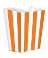 Popcorn bakjes oranje 5 stuks