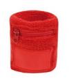 Rode zweetband met ritsje