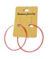 Ronde oranje oorbellen 5 cm