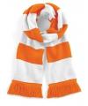 Sjaal met brede streep oranje wit
