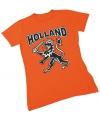 T shirt holland voor dames met zwarte leeuw