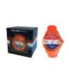 Trendy holland horloge oranje voor heren