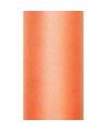 Tule stof oranje 50 cm breed