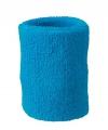 Turquoise zweetbandje voor de pols
