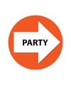 Wegwijzer setje party oranje