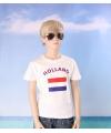 Wit kinder t shirt holland