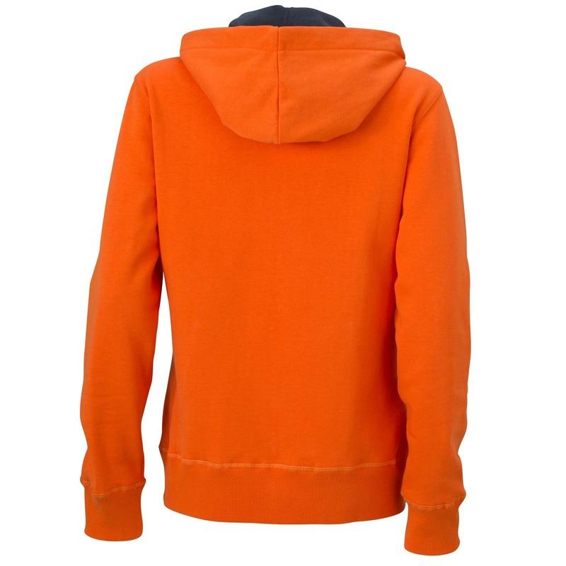 Trui Met Capuchon Dames.Nu Zeer Voordelig Oranje Dames Sweater Met Contrast Capuchon