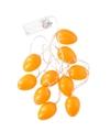 10 oranje paaseieren met led