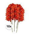 10x oranje gerbera kunstbloemen 47 cm