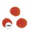 140x oranje knutsel pompons 7 mm